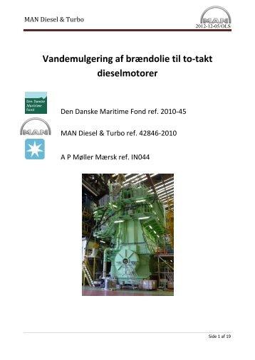 Afslutningsrapport - Den Danske Maritime Fond