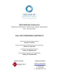 2013 NAGCAS Conference CALL FOR CONFERENCE ABSTRACTS