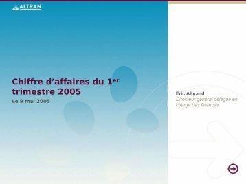 Chiffre d'affaires du 1er trimestre 2005 - Altran