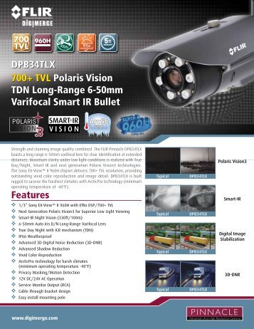 DPB34TLX Spec Sheet - Digimerge