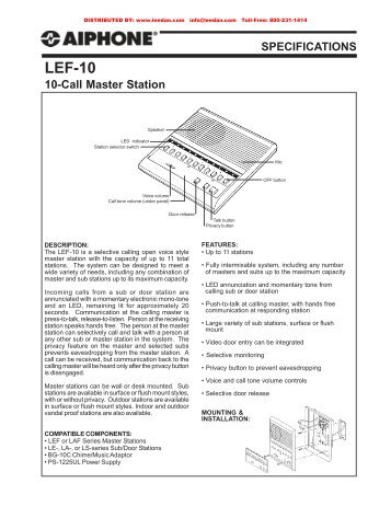 aiphone lef 10 10 call selective intercom master station?quality\=85 aiphone lef 10 wiring diagram intercom wiring diagram \u2022 wiring aiphone lef 5 wiring diagram at creativeand.co