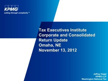 KPMG PPT - Tax Executives Institute, Inc.