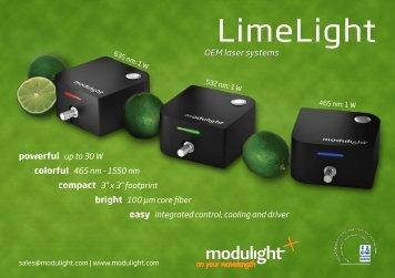 LimeLight flyer - Modulight