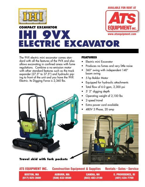 IHI 9VX-E - ATS Equipment