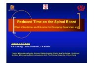 Reduced Time on the Spinal Board – Effect of Guidelines and ...