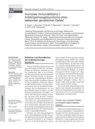 Antikörpermangelsyndrome ohne bekannten genetischen Defekt