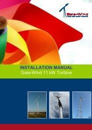 INSTALLATION MANUAL Gaia-Wind 11 kW Turbine - TALCO ...