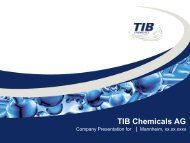 products and fields of application - TIB Chemicals AG