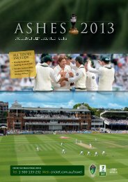 ASHES 2013 - Cricket Australia Travel Office