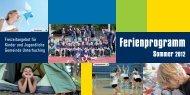 Ferienprogramm Sommer 2012 - Gemeinde Unterhaching