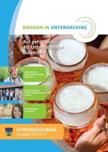 GEMEINDEJOURNAL Auf geht's zum 40 ... - Gemeinde Unterhaching