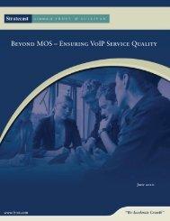 Beyond MOS - Ensuring VoIP Service Quality - Talk telecom