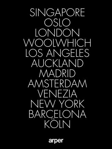 singapore oslo london woolwhich los angeles auckland madrid - Arper