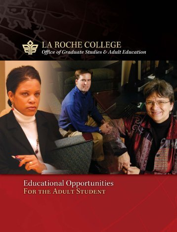 Educational Opportunities for the Adult Student - La Roche College