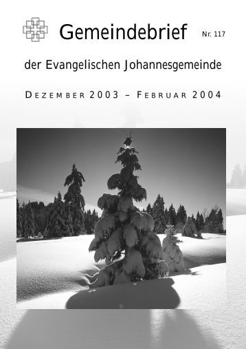 Gemeindebrief Dezember 2003
