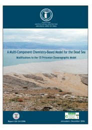 A Multi-Component Chemistry - Based Model for the Dead Sea