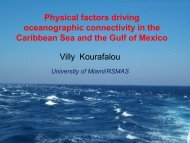 Physical factors driving oceanographic connectivity in the Caribbean ...