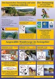 Der Donausteig und ausgewählte Rad- und ... - Markt Untergriesbach