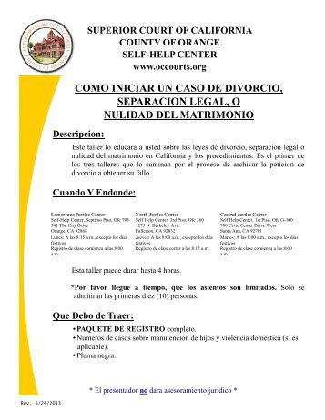 COMO INICIAR UN CASO DE DIVORCIO ... - Superior Court