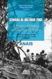 Anais Semana de História 2005 - Campus de Três Lagoas