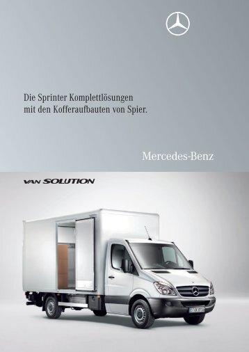 Die Sprinter Komplettlösungen mit den Kofferaufbauten von Spier.