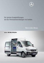 Die Sprinter Komplettlösungen mit den Werkstatteinrichtungen von ...