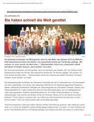 Sie haben schnell die Welt gerettet.pdf - Wilhelm-Kraft-Gesamtschule