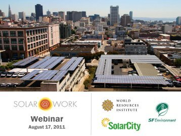 Solar@Work Webinar - Green Cities California