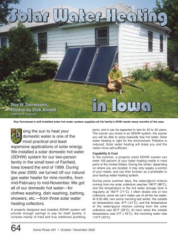 Do-It-Yourself Solar Water Heating System in Iowa - Equal Parenting ...