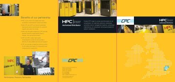 Benefits of our partnership - HPC Compressed Air Systems
