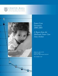 Foster Care Dynamics 2000-2005 A Report from the Multistate ...