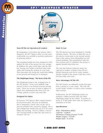 backpack sprayers - Minnesota Wanner Co.