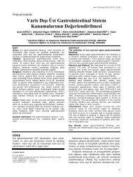varis dışı üst gastrointestinal sistem kanamalarının ... - Yeni Tıp Dergisi