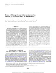 Breaks in lithology: Interpretation problems when handling 2D ...
