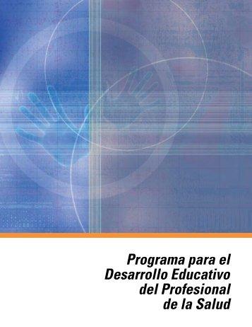 Programa para el Desarrollo Educativo del Profesional de la Salud