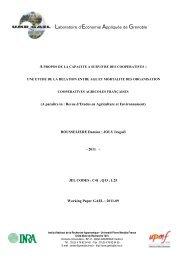 A paraître in : Revue d'Etudes en Agriculture et ... - UMR-GAEL - Inra