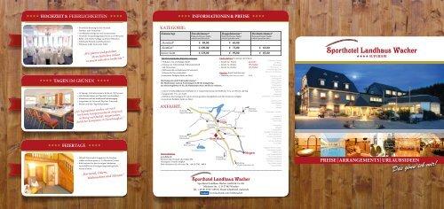 Aktuelle Preisliste - Sporthotel Landhaus Wacker