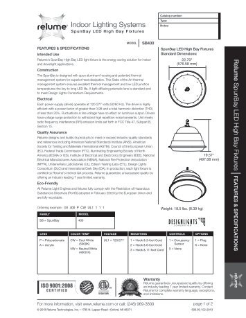 Indoor Lighting Systems - Relume Technologies