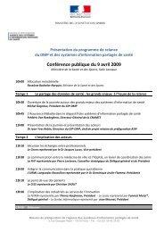 Conférence publique du 9 avril 2009 - Santé en Limousin