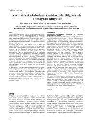 Travmatik Asetabulum Kırıklarında Bilgisayarlı ... - Yeni Tıp Dergisi