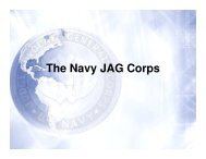 The Navy JAG Corps