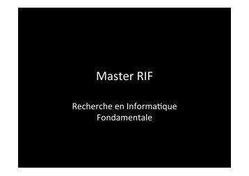 Master RIF