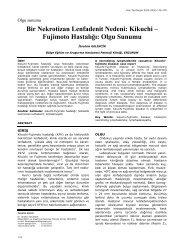 Kikuchi – Fujimoto Hastalığı: Olgu Sunumu - Yeni Tıp Dergisi