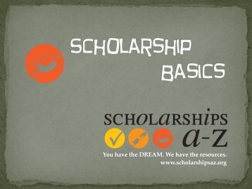 Scholarship Basics - ScholarshipsA-Z