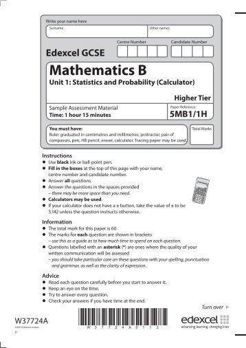aqa mathematics module 5 higher past paper