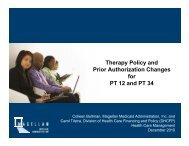 Therapy Policy and Prior Authorization Changes for PT 12 and PT 34