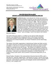 Local advocate for children and - Guilford Education Alliance