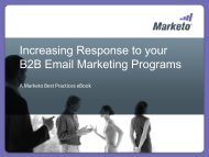 Increasing Response to your Email Marketing Programs - Marketo