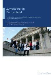 Zuwanderer in Deutschland - Bertelsmann Stiftung
