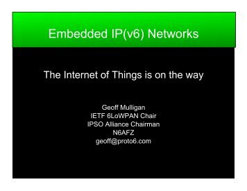 The Internet of the things is on the way